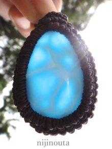 他の写真2: ハイグレードラリマー・水晶・シンプルネックレス