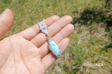 他の写真2: 女神の智慧∞ラリマー・カイヤナイト・ラブラドライト・水晶・グレーオニキス・14kgf
