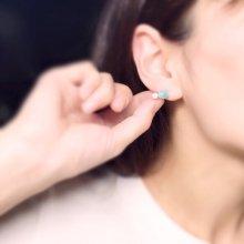 他の写真3: 虹のうたセレクト ∞ emew jasmine  ラリマー&あやこ真珠ピアス【片耳】 14kgf