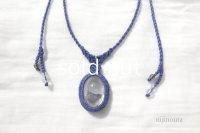 Soul education*チベットクリスタル(inブローカイト、レインボー、シルバールチル、オイル)・スモーキークォーツ・水晶・麻(藍染)