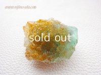 グリーンフローライト・オレンジリバー水晶